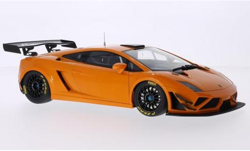 Lamborghini Gallardo 1/18 AUTOart GT3 FL2 metallise orange 2013 Plain Body Version modellino in miniatura