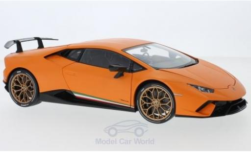 Lamborghini Huracan 1/18 AUTOart Performante matt-orange 2017 diecast