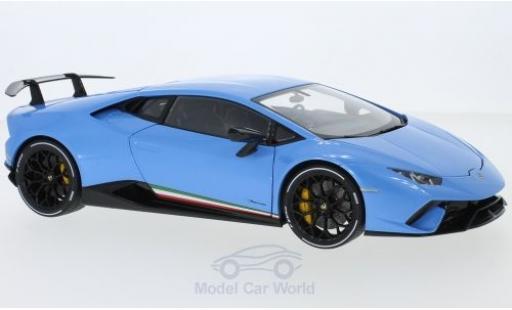 Lamborghini Huracan 1/18 AUTOart Performante metallise blue 2017 diecast model cars