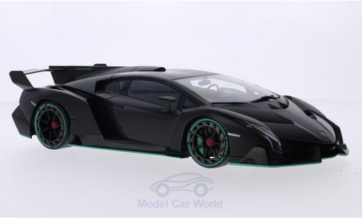Lamborghini Veneno 1/18 AUTOart matt-noire 2013 miniature