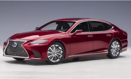 Lexus LS 1/18 AUTOart 500h metallise red 2018 diecast model cars