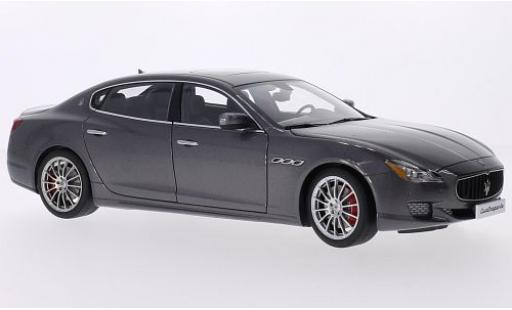 Maserati Quattroporte 1/18 AUTOart GTS metallise grau 2015 modellautos