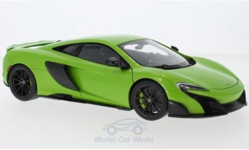 McLaren 675 1/18 AUTOart LT verde 2016 miniatura