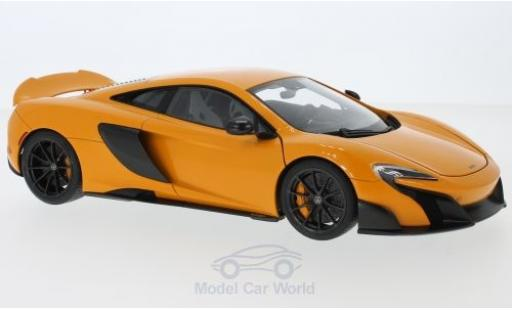 McLaren 675 1/18 AUTOart LT orange 2016 diecast model cars
