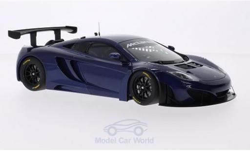 McLaren MP4-12C 1/18 AUTOart GT3 metallise bleue RHD 2011 miniature