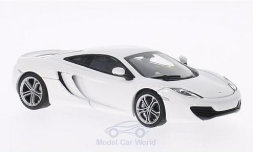 McLaren MP4-12C 1/43 AUTOart white 2011 diecast model cars