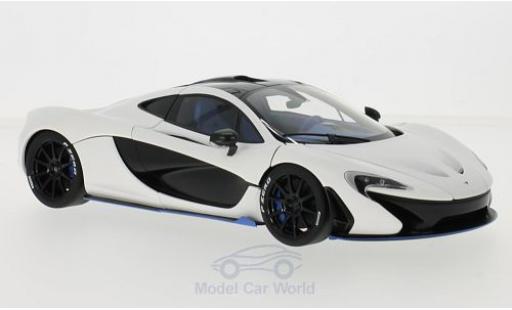 McLaren P1 1/18 AUTOart matt-white RHD 2013 diecast model cars