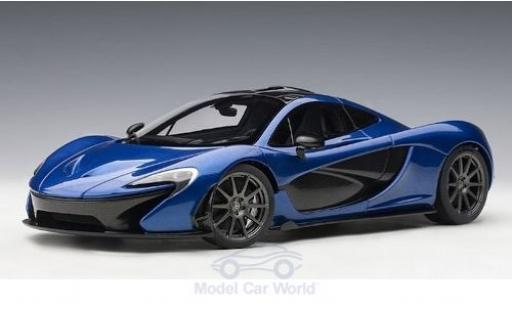 McLaren P1 1/18 AUTOart metalico azul 2013 miniatura