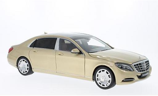 Mercedes CLA 1/18 AUTOart Maybach Classe S (S600) LWB gold 2015 diecast model cars