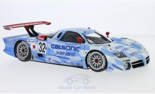 Nissan R390 1/18 AUTOart GT1 No.32 Calsonic Xanavi 24h Le Mans 1998 K.Hoshino/A.Suzuki/M.Kageyama miniatura