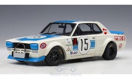 Nissan Skyline 1/18 AUTOart GT-R (KPGC-10) RHD No.15 300 KM Fuji Speed Race 1972 K.Takahashi miniatura