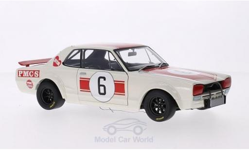 Nissan Skyline 1/18 AUTOart GT-R (KPGC10) RHD No.6 GP Japan 1971 K.Takahashi miniature