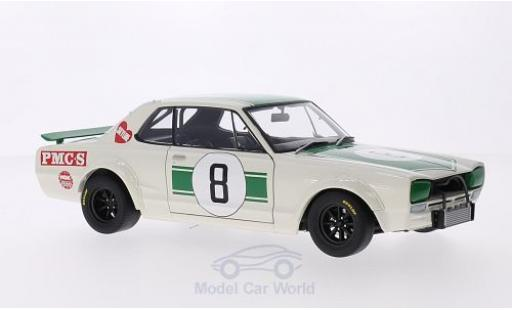 Nissan Skyline 1/18 AUTOart GT-R (KPGC10) RHD No.8 GP Japan 1971 M.Hasemi diecast model cars