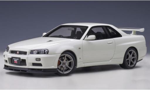 Nissan Skyline 1/18 AUTOart GT-R (R34) V-Spec II metallise white RHD diecast model cars