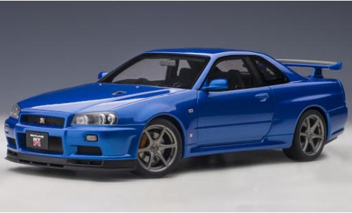 Nissan Skyline 1/18 AUTOart GT-R V-Spec II (R34) metallise bleue RHD miniature