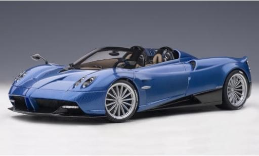 Pagani Huayra 1/18 AUTOart Roadster blue/carbon 2017 y compris les Hardtop diecast model cars