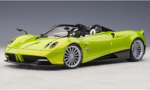 Pagani Huayra 1/18 AUTOart Roadster metallise green 2017 y compris les Hardtop diecast model cars