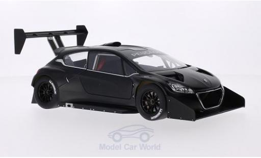 Peugeot 208 T16 1/18 AUTOart matt-schwarz Pikes Peak 2013 Plain Body Version modellautos