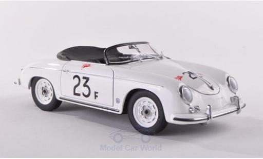 Porsche 356 1/18 AUTOart A Speedster blanche No.23 1955 James Dean miniature
