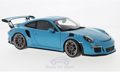 Porsche 991 GT3 RS 1/18 AUTOart 911  blue 2016 diecast model cars