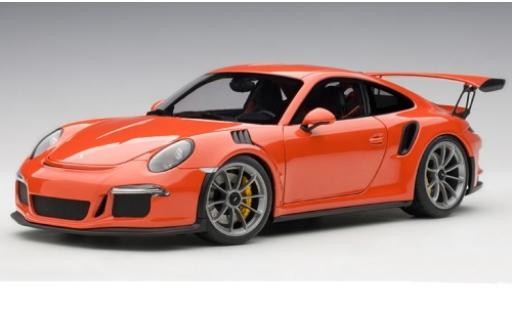Porsche 991 GT3 RS 1/18 AUTOart 911  orange 2016 modellino in miniatura