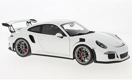 Porsche 991 GT3 RS 1/18 AUTOart 911  white 2016 diecast model cars