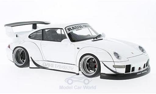 Porsche 993 RWB 1/18 AUTOart 911  blanche Rauh Welt ohne Vitrine miniature