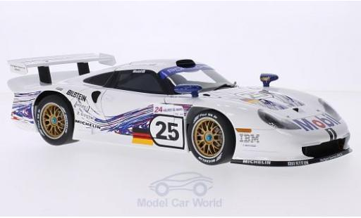 Porsche 996 GT1 1/18 AUTOart 911 No.25 24h Le Mans 1997 T.Boutsen/H-J.Stuck/B.Wollek miniature