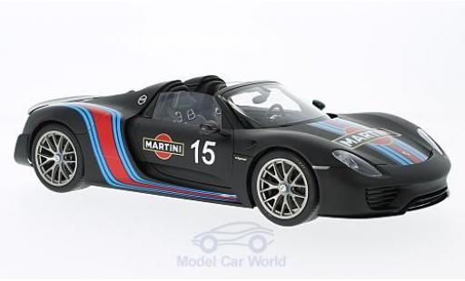 Porsche 918 2013 1/18 AUTOart Spyder noire Martini Weissach Package miniature