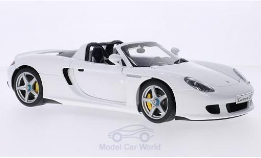 Porsche Carrera GT 1/18 AUTOart white diecast model cars