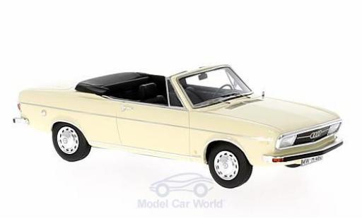 Audi 100 LS 1/43 AutoCult Cabriolet beige 1969 miniature