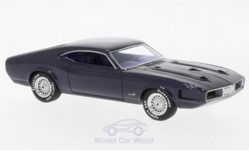 Ford Mustang 1970 1/43 AutoCult Milano metallise violette miniature