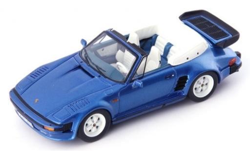 Porsche 930 1/43 AutoCult 911 SE Flatnose Cabriolet metallise blue 1988 diecast model cars