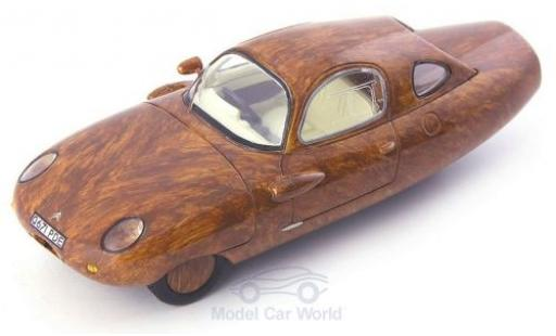 Citroen 2CV 1/43 AutoCult Wood Tryane II brown RHD 1986 diecast
