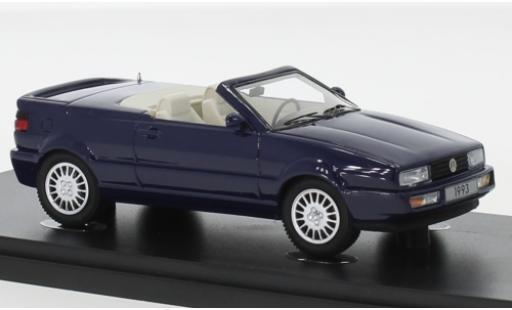 Volkswagen Corrado 1/43 AutoCult Cabriolet Prougeotyp metallise bleue 1993 miniature
