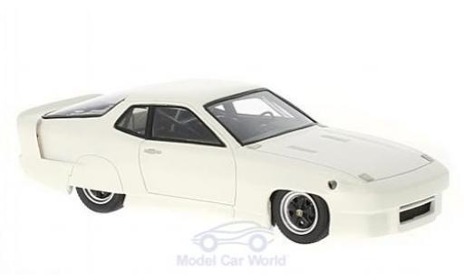 Porsche 924 1/43 AutoCult World Record Car blanche 1976 miniature
