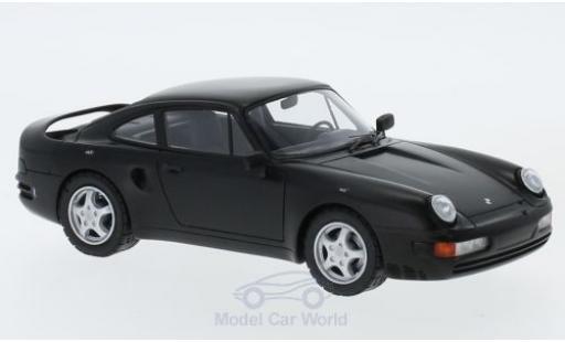 Porsche 956 1/43 AutoCult V8 matt-noire 1988 miniature