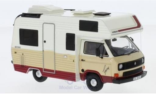 Volkswagen T3 1/43 AutoCult Karmann Gipsy beige/rouge 1983 miniature