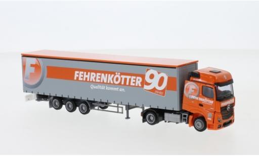 Mercedes Actros 1/87 AWM 2 BigSpace / Aerop. Fehrenkötter Megaliner-camion avec bache miniatura