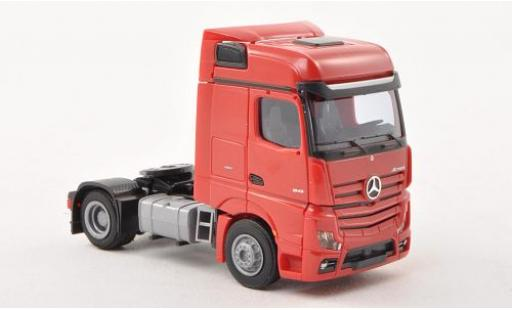 Mercedes Actros 1/87 AWM 2 Bigspace/Aerop. red Solo-Zugmaschine 2-achsig red diecast model cars