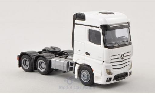 Mercedes Actros 1/87 AWM 2 Bigspace blanco Solo-Zugmaschine 3-achsig blanco coche miniatura