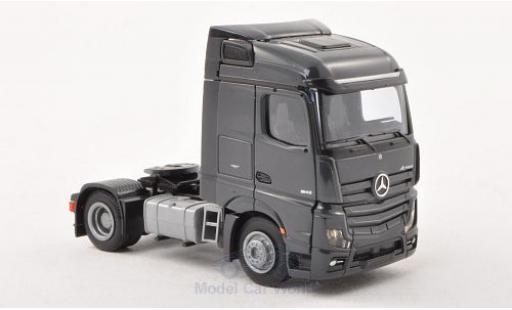 Mercedes Actros 1/87 AWM 2 Streamspace/Aerop. dkl.-grey 2-achsig grey diecast model cars