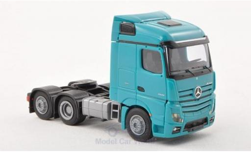 Mercedes Actros 1/87 AWM 2 Streamspace/Aerop. turquoise Solo-Zugmaschine 3-achig turquoise diecast model cars