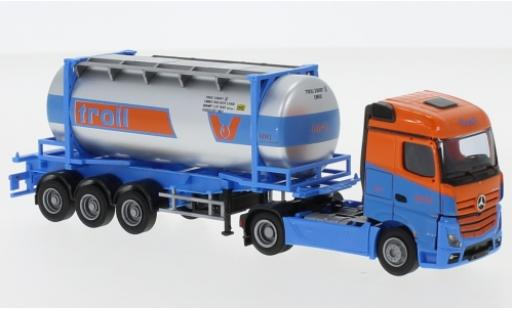Mercedes Actros 1/87 AWM 2 StreamSpace Troll 26'Swapbody-tracteur coche miniatura