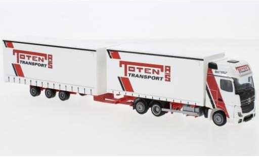 Mercedes Actros 1/87 AWM 5 GigaSpace Toten Transport AS Tridemhängerzug diecast model cars