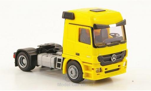 Mercedes Actros 1/87 AWM MP3 L Zugmaschine yellow diecast model cars