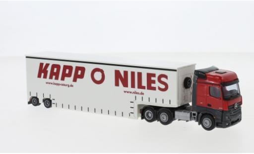 Mercedes Actros 1/87 AWM 2 Big. / Aerop. Pieper Tiefbett-SZ miniatura
