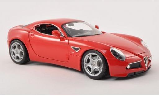 Alfa Romeo 8C 1/18 Bburago Competizione rouge 2007 miniature