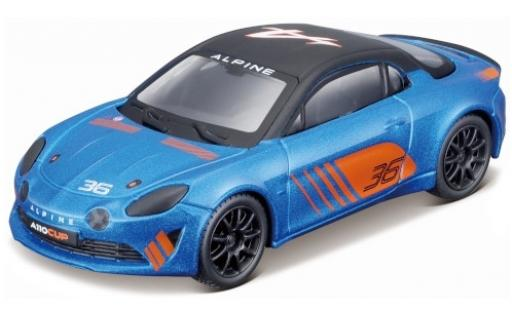Alpine A110 1/43 Bburago Cup metallise bleue/matt-noire No.36 2019 miniature