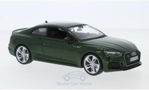Audi RS5 1/24 Bburago RS 5 métallisé verte 2019 miniature